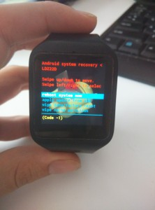 SmartWatch 3 Recovery Mode